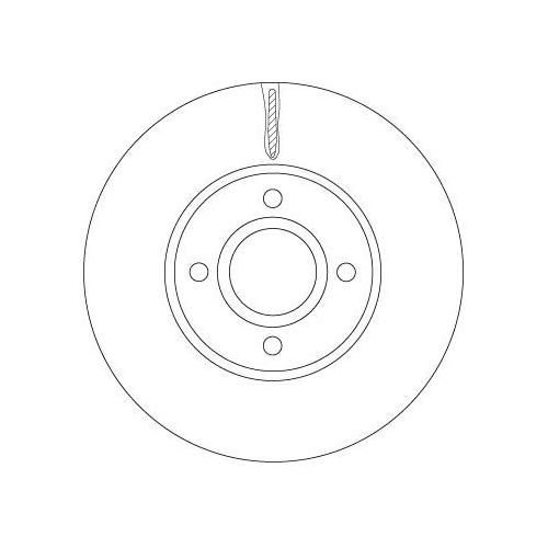 Brake Disc TRW DF6898 FORD