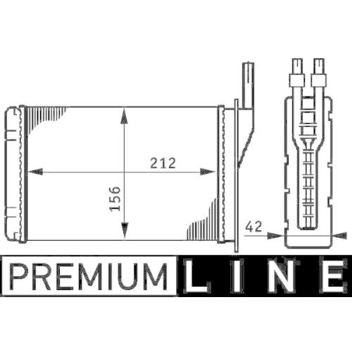 Wärmetauscher, Innenraumheizung MAHLE AH 74 000P BEHR *** PREMIUM LINE ***