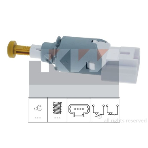 Brake Light Switch KW 510 225 Made in Italy - OE Equivalent MERCEDES-BENZ NISSAN