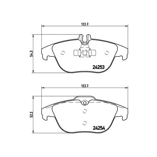BREMBO Brake Pad Set, disc brake P 50 068