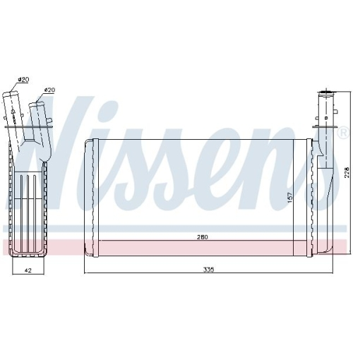 Heat Exchanger, interior heating NISSENS 70016 ALFA ROMEO LANCIA
