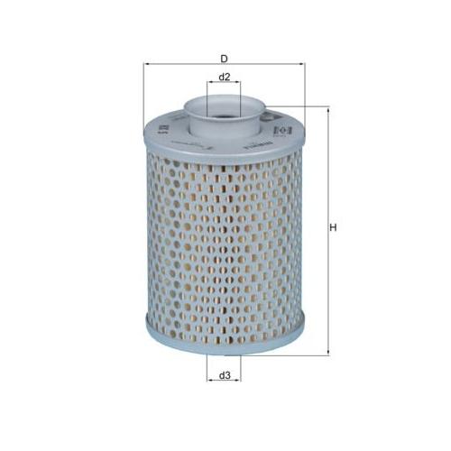 MAHLE ORIGINAL Hydraulic Filter, automatic transmission HX 5