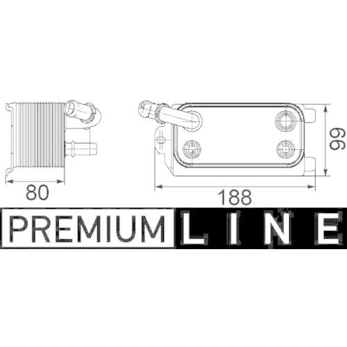 Oil Cooler, automatic transmission MAHLE CLC 72 000P BEHR *** PREMIUM LINE ***