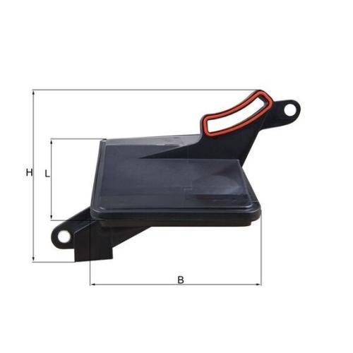 Hydraulikfilter, Automatikgetriebe MAHLE HX 188 GMC OPEL VOLVO