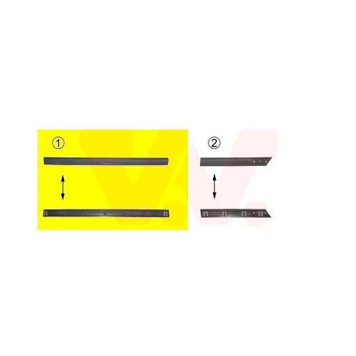 Trim/Protective Strip, door VAN WEZEL 5883428 VW