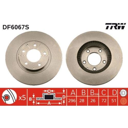 TRW Brake Disc DF6067S