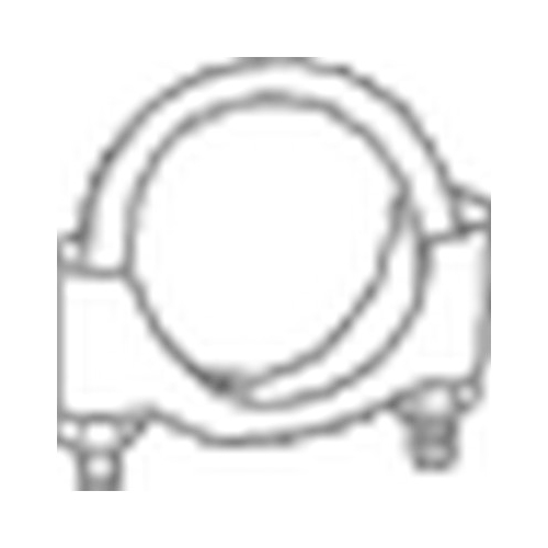 BOSAL Clamp, exhaust system 250-248