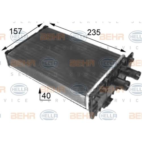 Wärmetauscher, Innenraumheizung HELLA 8FH 351 024-431 VW