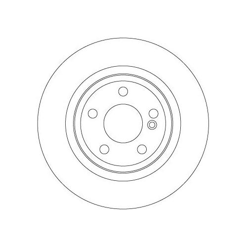 Brake Disc TRW DF6634 MERCEDES-BENZ