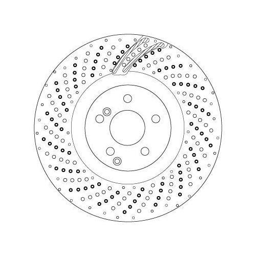 Brake Disc TRW DF6873S MERCEDES-BENZ
