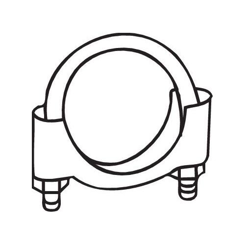 Klemmstück, Abgasanlage BOSAL 250-252 Bosal M8 Klemme CITROËN FIAT FORD LANCIA