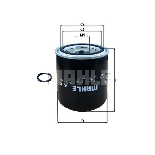 Air Dryer Cartridge, compressed-air system MAHLE AL 12 DAF IVECO MAN SCANIA