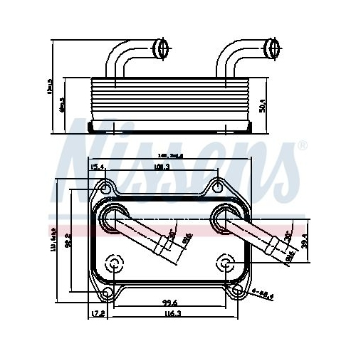 Ölkühler, Motoröl NISSENS 90707 VOLVO