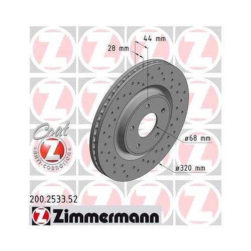 ZIMMERMANN Brake Disc 200.2533.52