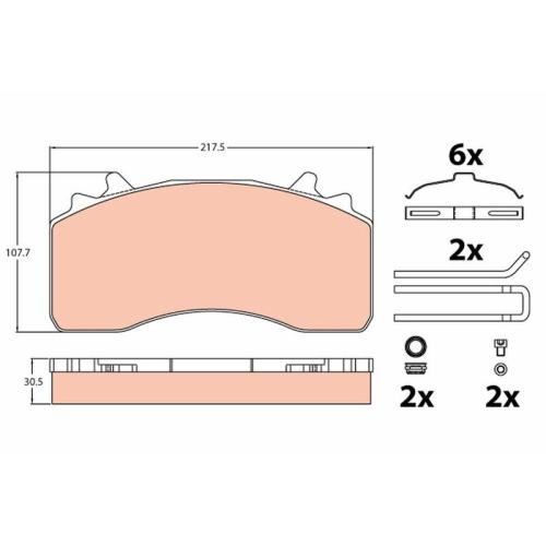 Scheibenbremse TRW GDB1421 COTEC passend für MERCEDES-BENZ 1 Bremsbelagsatz