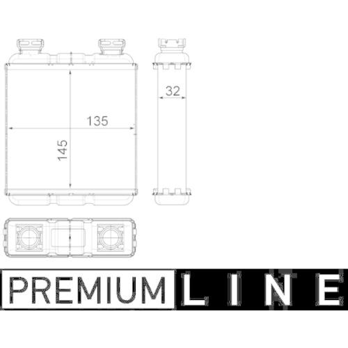 Heat Exchanger, interior heating MAHLE AH 188 000P BEHR *** PREMIUM LINE ***