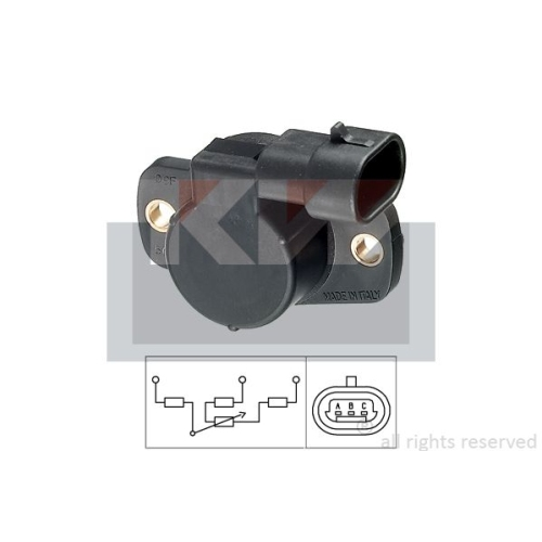 Sensor, throttle position KW 495 093 Made in Italy - OE Equivalent RENAULT DACIA