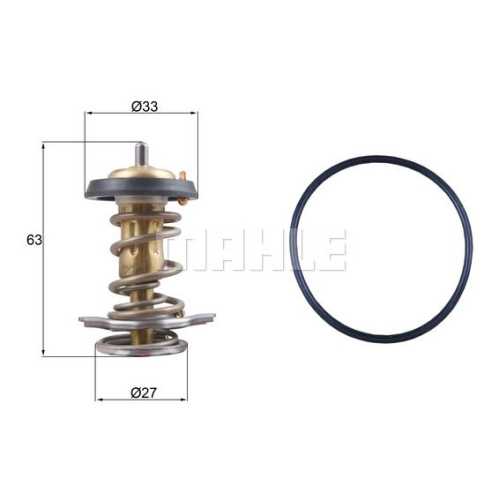Thermostat, coolant MAHLE TX 264 82D FIAT IVECO