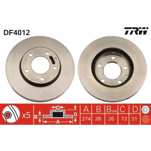 TRW Bremsscheibe DF4012