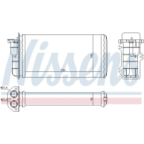 Wärmetauscher, Innenraumheizung NISSENS 71441 ALFA ROMEO FIAT