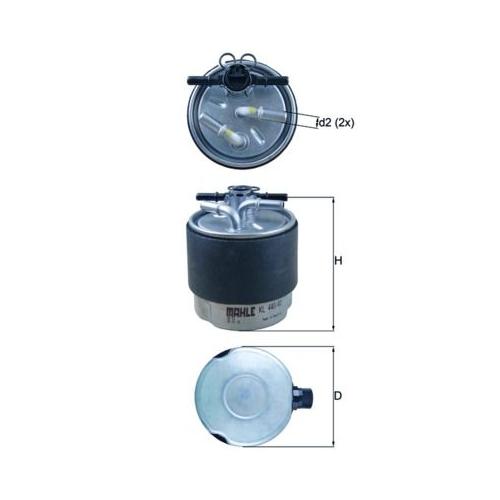 Kraftstofffilter MAHLE KL 440/41 NISSAN RENAULT