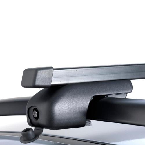 Signo Relingträgerpaar mit Stahl-Vierkantrohr