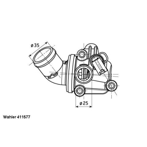 Thermostat, coolant BorgWarner (Wahler) 411577.80D MERCEDES-BENZ