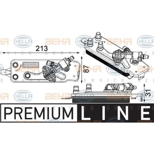 Ölkühler, Automatikgetriebe HELLA 8MO 376 749-001 BMW