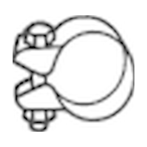 Klemmstück, Abgasanlage BOSAL 250-368 MERCEDES-BENZ