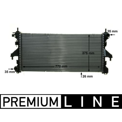 Radiator, engine cooling MAHLE CR 885 000P BEHR *** PREMIUM LINE *** CITROËN