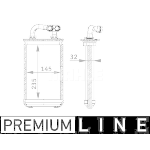 Heat Exchanger, interior heating MAHLE AH 84 000P BEHR *** PREMIUM LINE *** BMW
