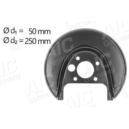 AIC splash panel, rear left brake disc 54703