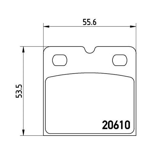 BREMBO Brake Pad Set, disc brake P 02 001