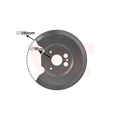 Van Wezel 5888372 Splash plate brake disc