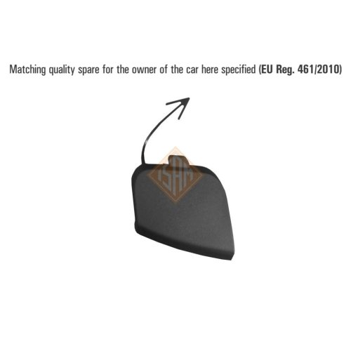 ISAM 0935820 flap tow hook rear for VW Golf VI