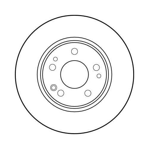 Brake Disc TRW DF1581 MERCEDES-BENZ