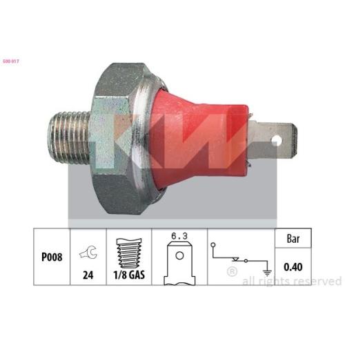 Oil Pressure Switch KW 500 017 Made in Italy - OE Equivalent DAIHATSU FORD HONDA