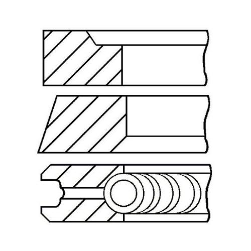 Kolbenringsatz GOETZE ENGINE 08-421000-00 VW VAG