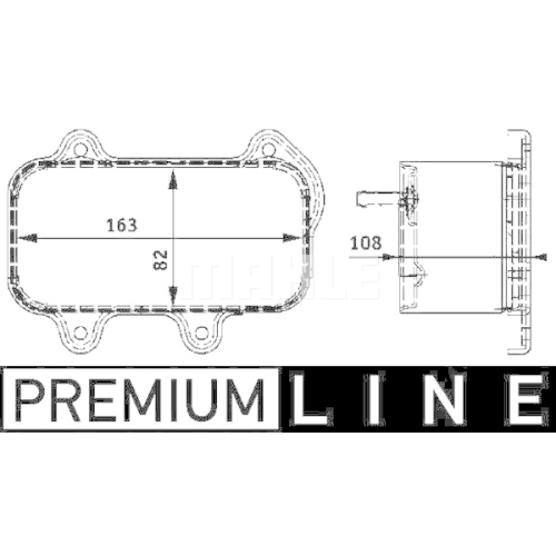 Oil Cooler, engine oil MAHLE CLC 39 000P BEHR *** PREMIUM LINE *** PORSCHE