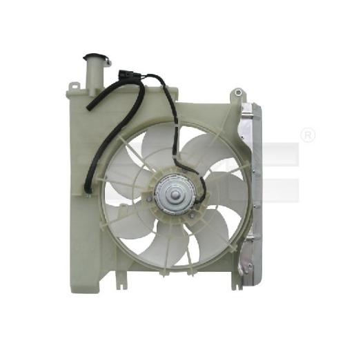 Fan, radiator TYC 836-0019 CITROËN PEUGEOT TOYOTA
