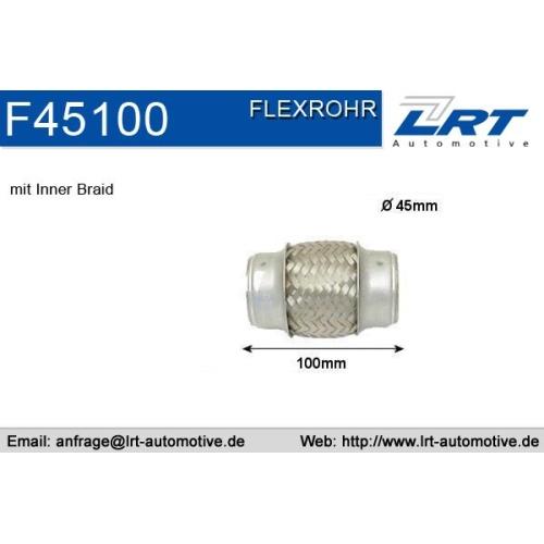 LRT Flexrohr, Abgasanlage F45100