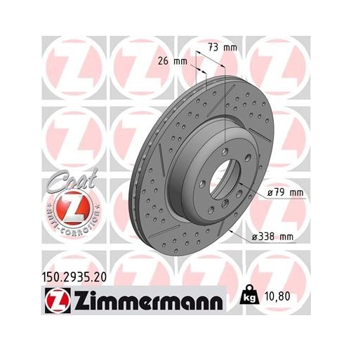 ZIMMERMANN Brake Disc 150.2935.20