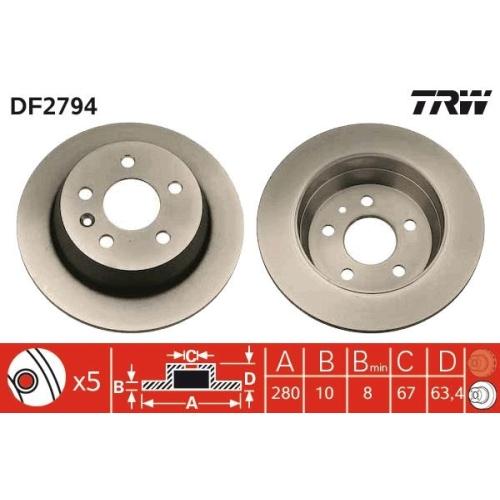 TRW Brake Disc DF2794