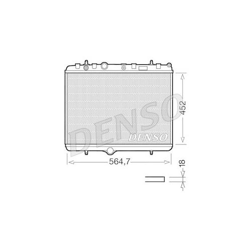 Kühler, Motorkühlung DENSO DRM21055 OPEL PEUGEOT CITROËN/PEUGEOT