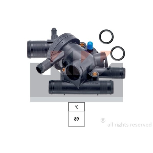 Thermostat, coolant KW 580 178 Made in Italy - OE Equivalent OPEL RENAULT
