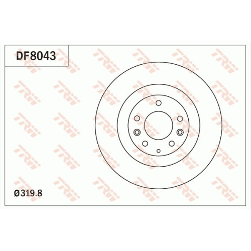 Brake Disc TRW DF8043 MAZDA FORD USA