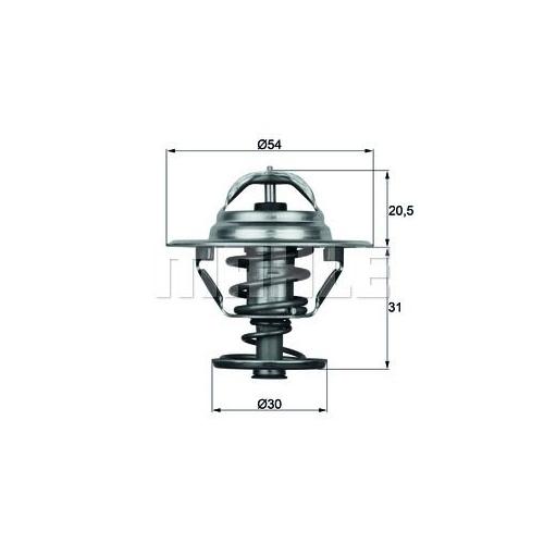 BEHR THERMOT-TRONIK Thermostat, coolant TX 10 88D