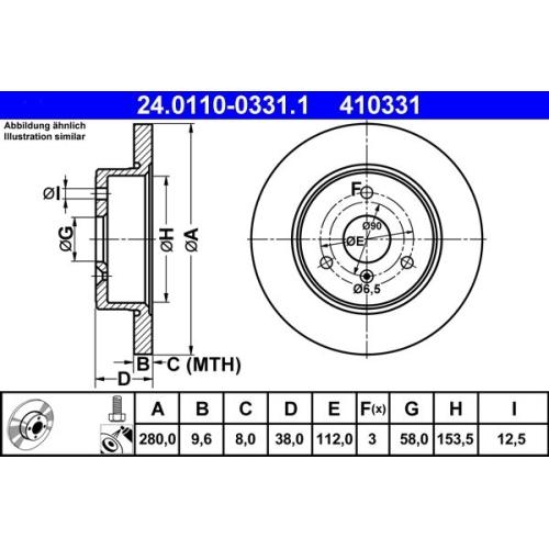 ATE Bremsscheibe 24.0110-0331.1