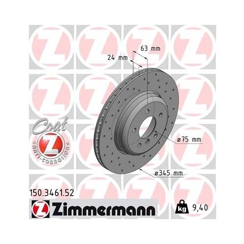 ZIMMERMANN Brake Disc 150.3461.52