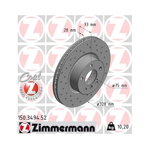 ZIMMERMANN Brake Disc 150.3494.52